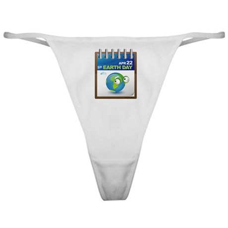 Earth Day - Diary Classic Thong