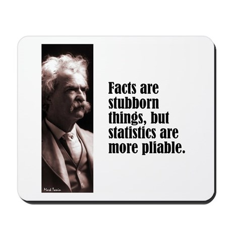 "Twain ""Facts"" Mousepad"