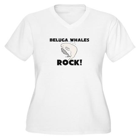 Beluga Whales Rock! Women's Plus Size V-Neck T-Shi
