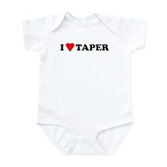 I Heart Taper Infant Bodysuit