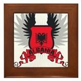 Albania Shield 2 Framed Tile