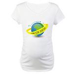 Planet Earth Crime Scene Maternity T-Shirt