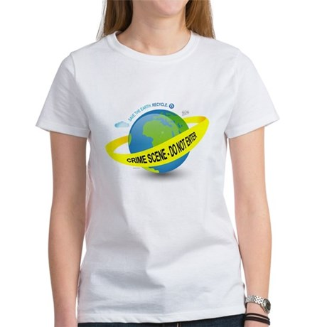 Planet Earth Crime Scene Women's T-Shirt