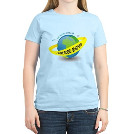 Planet Earth Crime Scene Women's Light T-Shirt