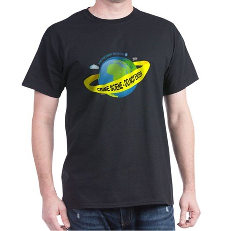 Planet Earth Crime Scene Dark T-Shirt