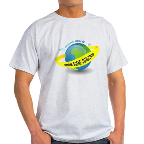 Planet Earth Crime Scene Light T-Shirt