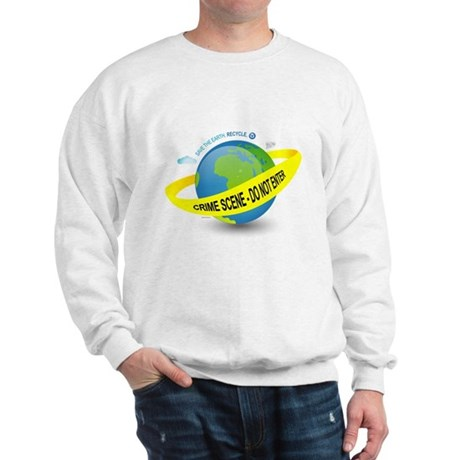 Planet Earth Crime Scene Sweatshirt