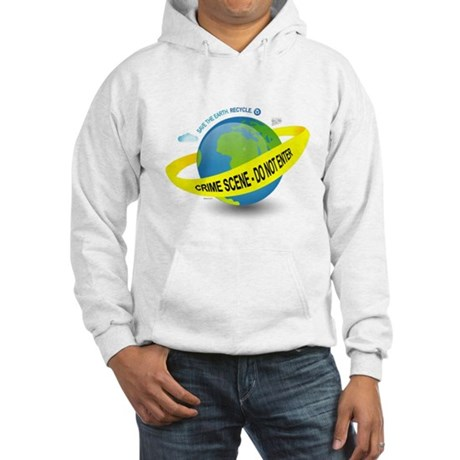 Planet Earth Crime Scene Hooded Sweatshirt