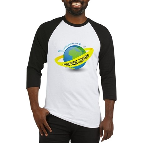 Planet Earth Crime Scene Baseball Jersey
