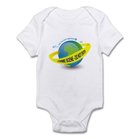 Planet Earth Crime Scene Infant Bodysuit