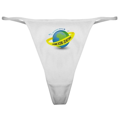 Planet Earth Crime Scene Classic Thong