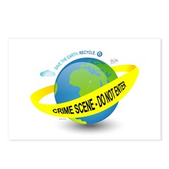 Planet Earth Crime Scene Postcards (Package of 8)
