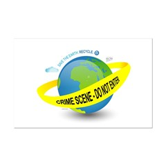 Planet Earth Crime Scene Mini Poster Print