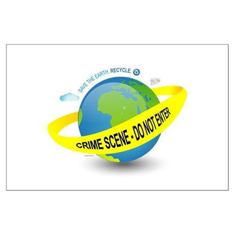 Planet Earth Crime Scene Large Poster