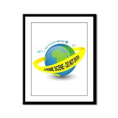 Planet Earth Crime Scene Framed Panel Print