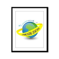Planet Earth Crime Scene Framed Panel Print