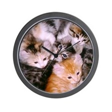 American Curl Kittens Wall Clock
