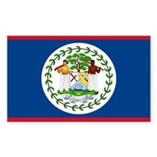 Belize Rectangle Sticker 50 pk)