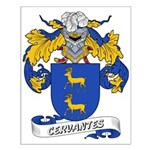 Cervantes Family Crest Small Poster
