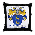 Cervantes Family Crest Throw Pillow