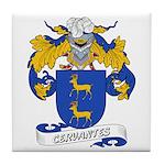 Cervantes Family Crest Tile Coaster