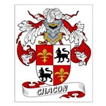 Chacon Family Crest Small Poster