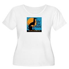 Le Cafe' Noir Hound Women's Plus Size Scoop Neck T