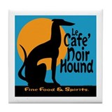 Le Cafe' Noir Hound Tile Coaster