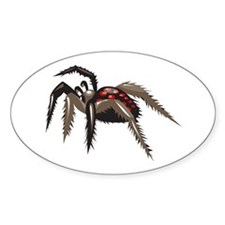 Tarantula Oval Sticker (10 pk)