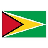 Guyana Rectangle Sticker 10 pk)