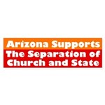 Arizona Supports... (bumper sticker)