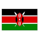 Kenya Rectangle Decal