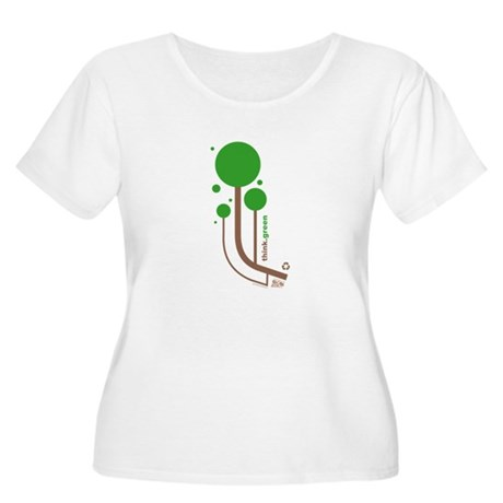 Green Thinker Women's Plus Size Scoop Neck T-Shirt