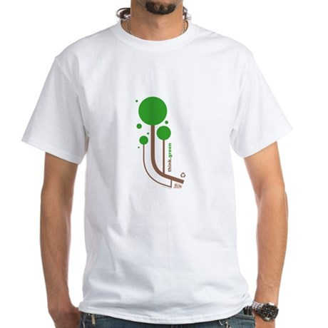 Green Thinker White T-Shirt