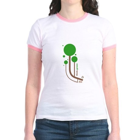 Green Thinker Jr. Ringer T-Shirt