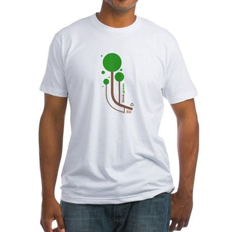 Green Thinker Fitted T-Shirt