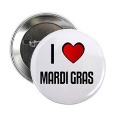 "I LOVE MARDI GRAS 2.25"" Button (100 pack)"