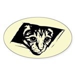 Ceiling Cat - No Text Oval Sticker
