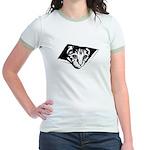 Ceiling Cat - No Text Jr. Ringer T-Shirt