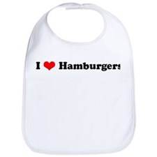 I Love Hamburgers Bib