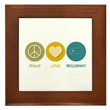 Peace Love Procurement Framed Tile