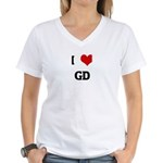 I Love GD Women's V-Neck T-Shirt