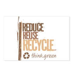 Reduce Reuse Recycle. Think G Postcards (Package o