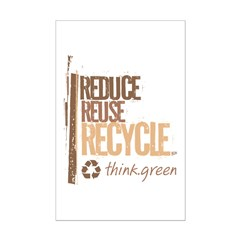 Reduce Reuse Recycle. Think G Mini Poster Print