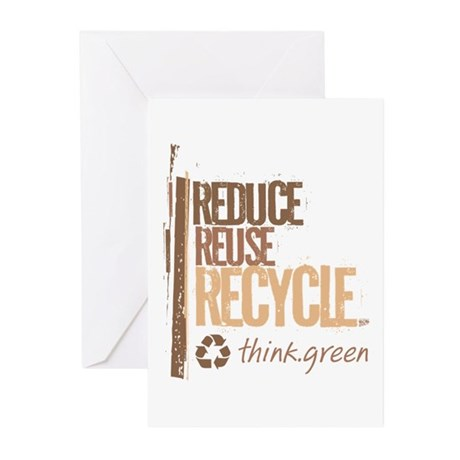 Reduce Reuse Recycle. Think G Greeting Cards (Pk o