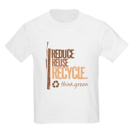 Reduce Reuse Recycle. Think G Kids Light T-Shirt