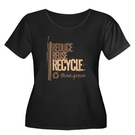 Reduce Reuse Recycle. Think G Women's Plus Size Sc