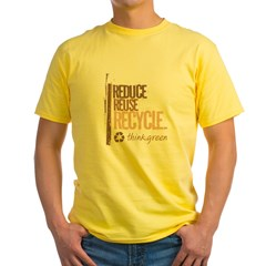 Reduce Reuse Recycle. Think G Yellow T-Shirt
