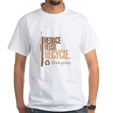 Reduce Reuse Recycle. Think G White T-Shirt