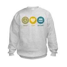 Peace Love Pottery Sweatshirt